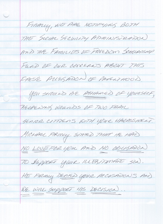Taylor Family Letter of Admission to Fraud 3